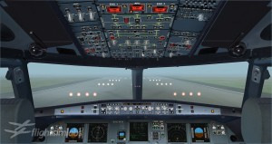 Preview av flightdeck på FSlabs sin kommende Airbus 320.