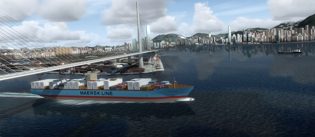 Hong_Kong_P3d_Maersk_Ship